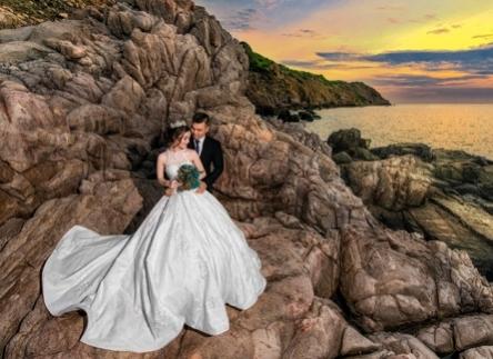 chụp hình cưới vịnh vĩnh hy đẹp giá rẻ tại Đăng Khoa studio